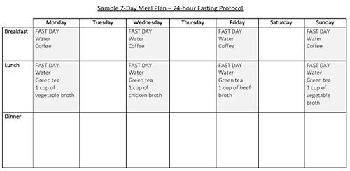 Obesity Code Meal Plan - Printable PDF